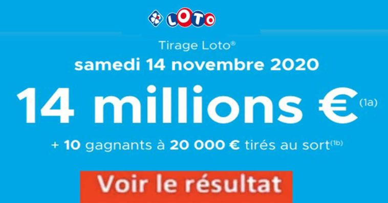Resultat LOTO 14 Novembre 2020 joker+ et codes loto gagnant