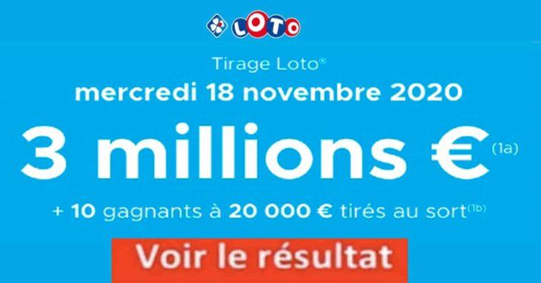 Resultat LOTO 18 Novembre 2020 joker+ et codes loto gagnant
