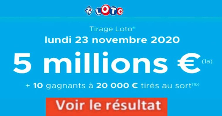 Resultat LOTO 23 Novembre 2020 joker+ et codes loto gagnant