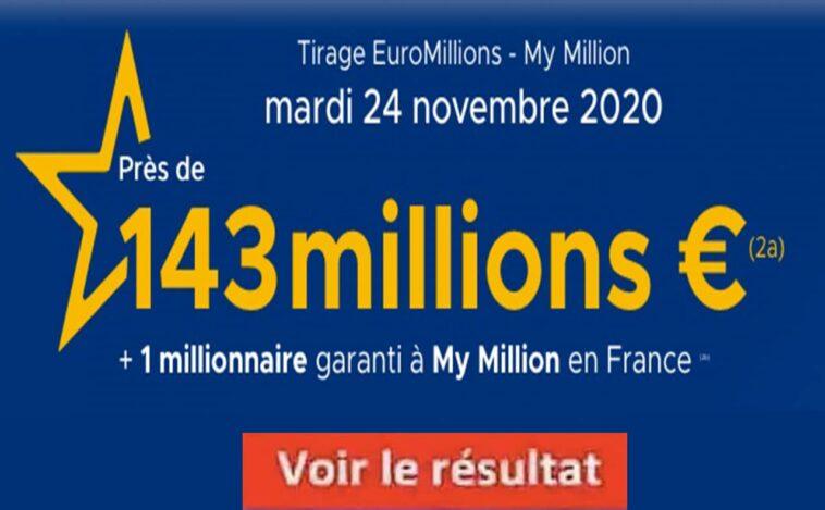 Resultat Euromillion 24 Novembre 2020