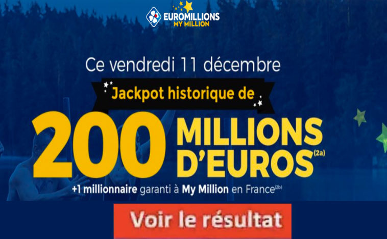 Resultat Euromillion 11 décembre 2020