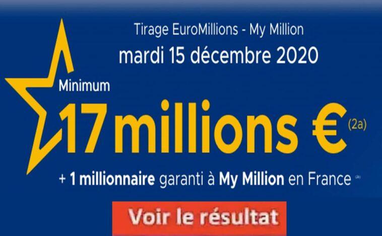 Resultat Euromillion 15 décembre 2020