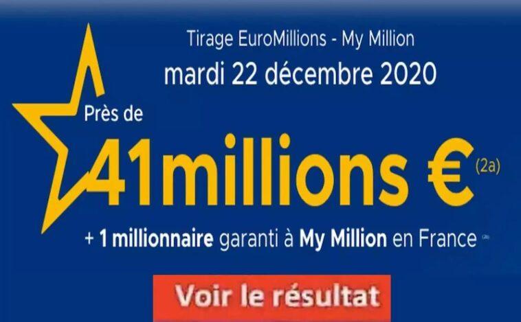 Resultat Euromillion 22 decembre 2020