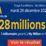 Resultat Euromillion 29 decembre 2020 avec la grille des gains