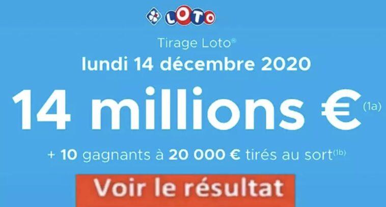 Resultat LOTO 14 décembre 2020 joker + et codes loto gagnant
