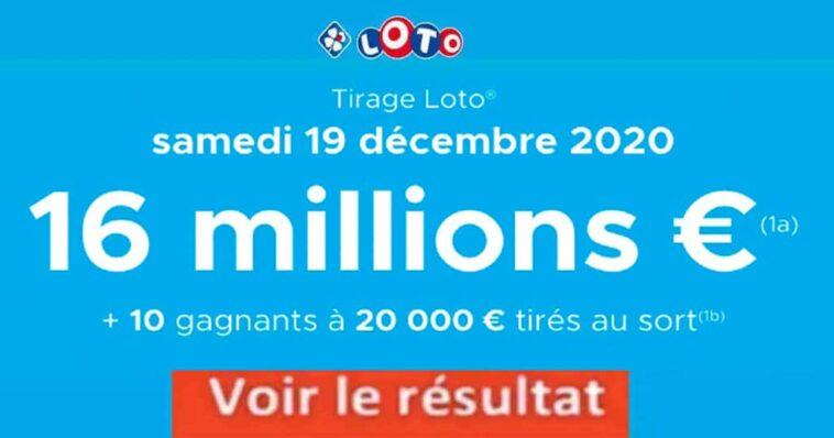 Resultat LOTO 19 décembre 2020