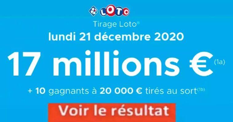 Resultat LOTO 21 décembre 2020