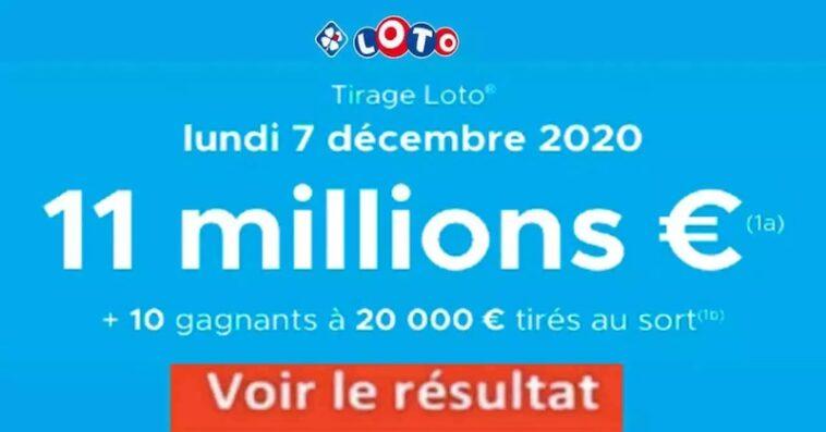 Resultat LOTO 7 Décembre 2020 joker+ et codes loto gagant