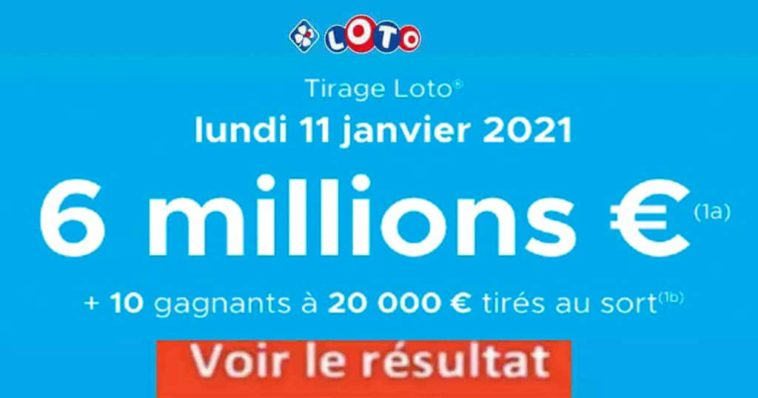 Resultat LOTO 11 Janvier 2021 joker+ et codes loto gagnant