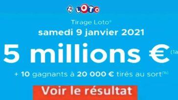 Resultat LOTO 9 Janvier 2021 joker+ et codes loto gagnant